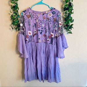 NWT Umgee floral purple dress | size large